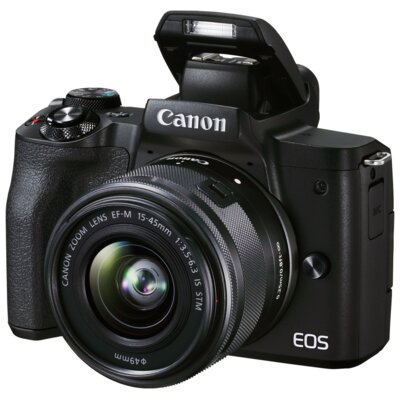 Aparat CANON EOS M50 Mark II Czarny + Obiektyw EF-M 15-45 mm f/3.5-6.3 IS STM
