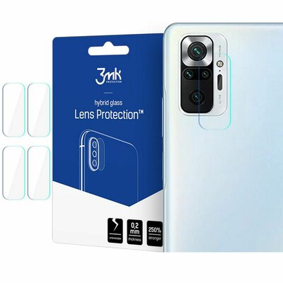Szkło hybrydowe 3MK Lens Protection na obiektyw do Xiaomi Redmi Note 10 Pro 4szt