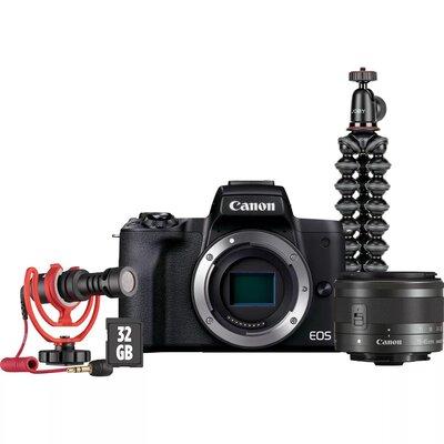 Aparat CANON EOS M50 II Vlogger Kit EU26 + Canon 15-45 mm f/3.5-6.3 Czarny