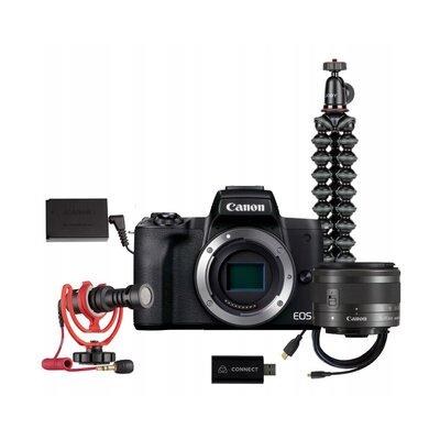Aparat CANON EOS M50 II Premium Live Stream Kit EU26 + Canon 15-45 mm f/3.5-6.3 Czarny