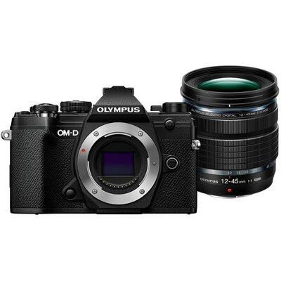 Aparat OLYMPUS E-M5 Mark III Czarny + Obiektyw ED 12-45mm Pro
