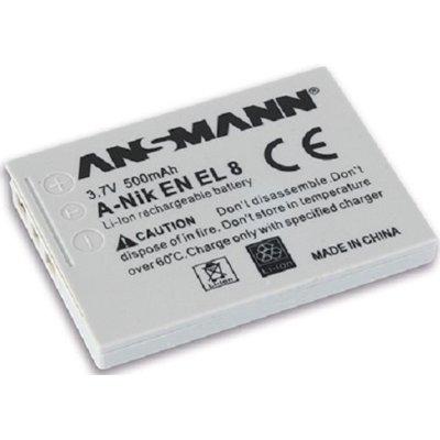 Akumulator ANSMANN 500 mAh do Nikon A-Nik EN EL 8 Electro E201143