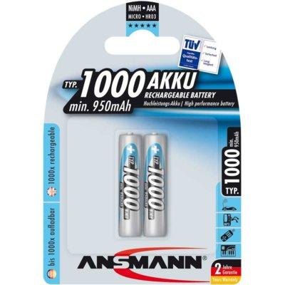 Akumulatorki AAA 1000 mAh ANSMANN (2 szt.) Electro 726903