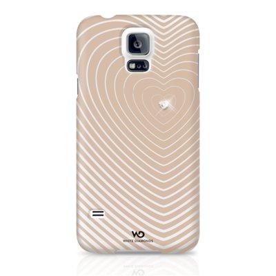 Etui HAMA do Galaxy S5 White Diamonds Heart Beat Różowo-Złoty Electro 792759