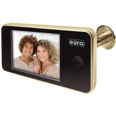 Wideo-wizjer EURA VDP-01C1 Eris Złoty