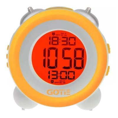 Budzik GOTIE GBE-200Y Żółty Electro 850201