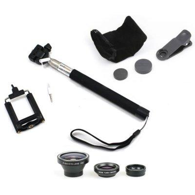 Zestaw XREC Selfie 3w1 Monopod/Uchwyt/3x Obiektywy Electro 855427