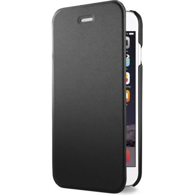 AZURI Ultrathin Booklet Etui iPhone 6/6S czarne Electro 362440