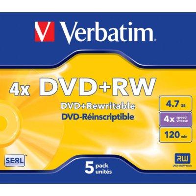 Płyta VERBATIM  DVD+RW Matt Silver 5 szt. Electro 346927