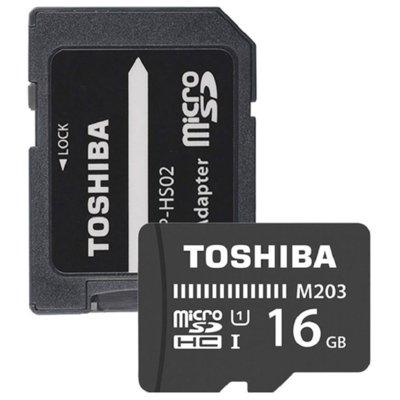 Karta pamięci TOSHIBA MicroSD 16GB M203 UHS-I U1