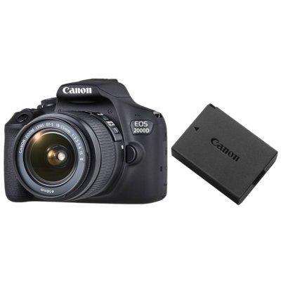 Aparat CANON EOS 2000D + Obiektyw 18-55mm + Akumulator LP-E10