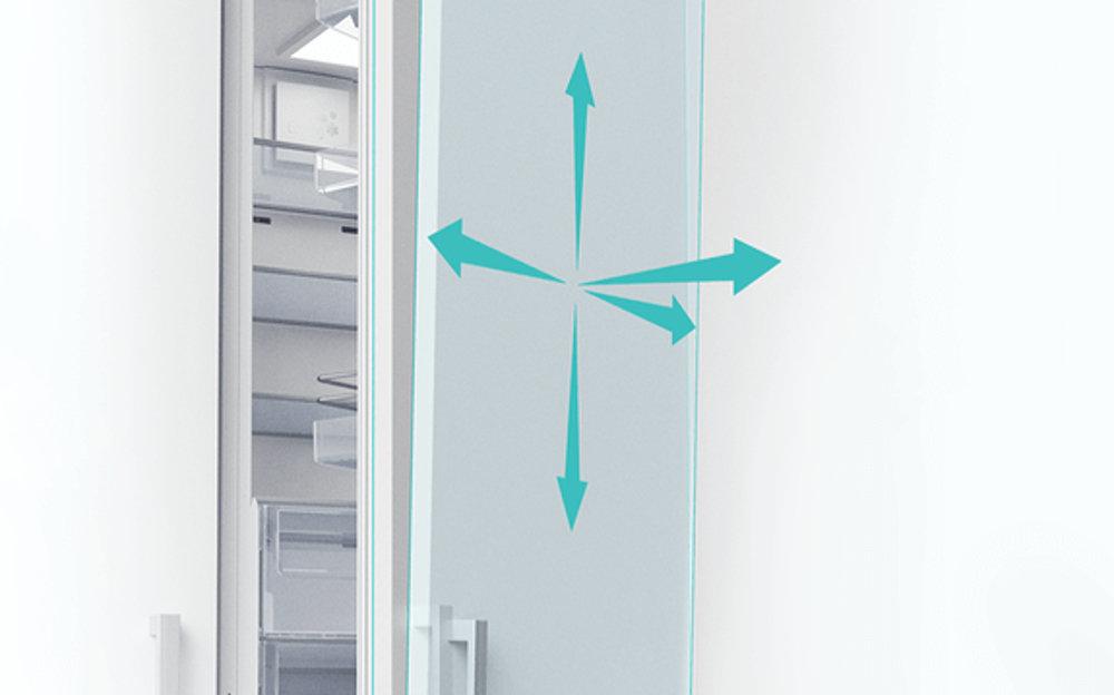 BEKO BU 1101 холодильник - 3D ножничные петли